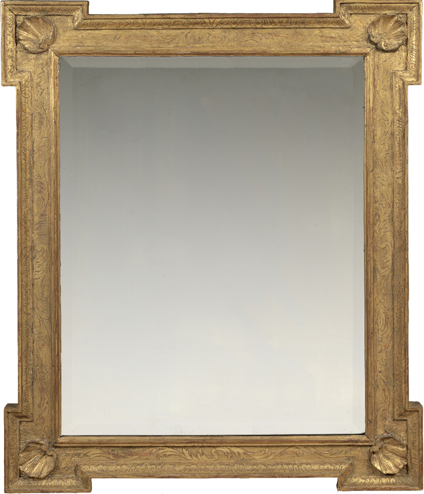 18th century English Palladian outset corner frame