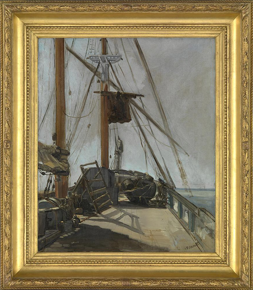 Edouard Manet (1832-83), The ship's deck, c.1860, 56.4 x 47 cm., National Gallery of Victoria, Melbourne, Felton Bequest, 1926, in an original 19th century French