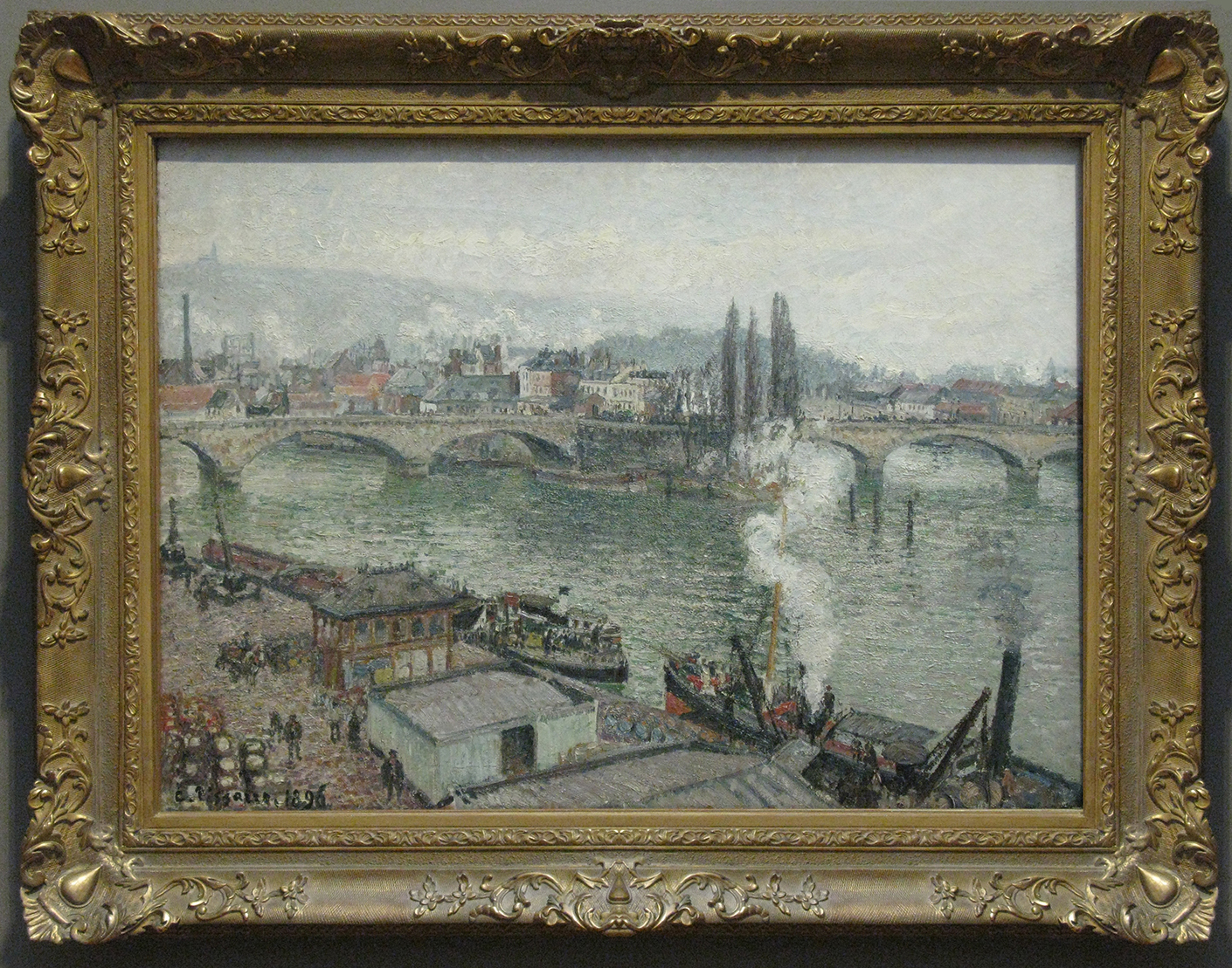 Camille Pissarro (1830-1903), The Stone Bridge in Rouen: dull weather, 1896, o/c, 66.1 x 91.5 cm., National Gallery of Canada